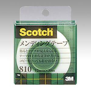 〈スコッチ〉メンディングテープ [810-1-12C] 1巻 (小巻)巻芯径25mm(粘着テープ)