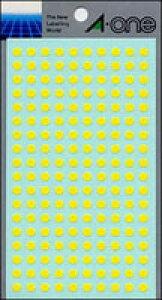 【ゆうパケット配送対象】カラーラベル [07064] 1P9シート(1800片) 丸型5mm径 本体色:黄 (ラベルシール シール)(ポスト投函 追跡ありメール便)