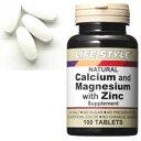 LIFE STYLE(ライフスタイル) カルシウム&マグネシウム&亜鉛 100粒入[タブレット][エープライム][サプリメント][ミネラル][071512407...