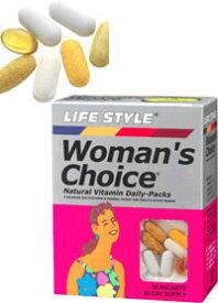 【在庫限り】LIFE STYLE(ライフスタイル) ウーマンズチョイス 30パック[30日分][エープライム](女性用サプリメント)[0715124014306]