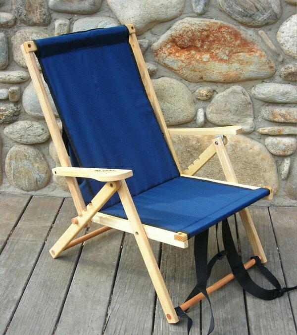 Blue Ridge Chair Works(ブルーリッジチェアワークス)バックパックチェア ネイビー [BPCH01WN]【MK】(アウトドア キャンプ チェア 椅子 いす イス 折りたたみ 折り畳み キャンプ用品)