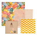 【SuperBee】【メール便可】ミツロウラップ ビギナーセット Beeginner Sets Tropical Paradise Beeswax Wraps みつろ…