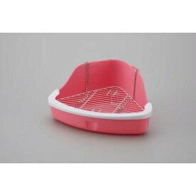 マルカン 上手にできるうさぎのトイレNEO ピンク MR-259