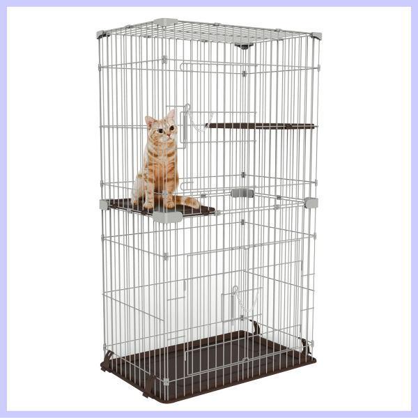 マルカン ニャン太のお掃除カンタン キャットフレンドルーム スリム 2段 CT-322 猫 ケージ キャットケージ 猫用ケージ