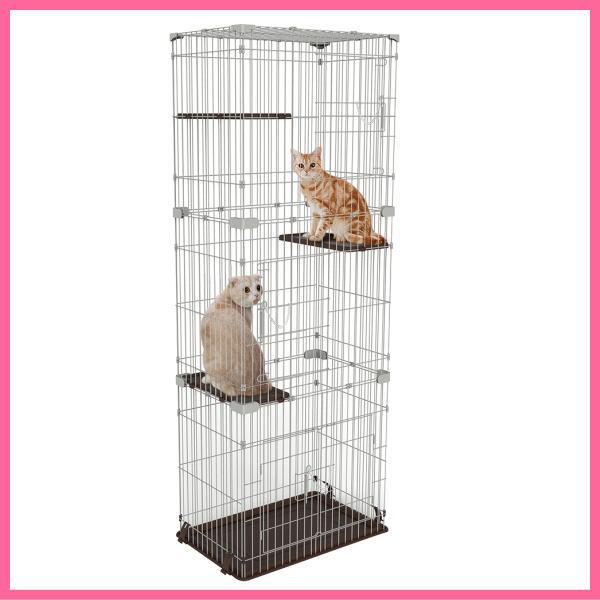 マルカン ニャン太のお掃除カンタン キャットフレンドルーム スリム 3段 CT-323 猫 ケージ キャットケージ 猫用ケージ