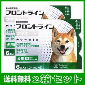 [動物用医薬品 犬用] フロントラインプラス ドッグ M [10〜20kg未満] 6本入(1.34mL×6)2箱セット★
