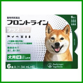 [動物用医薬品 犬用] フロントラインプラス ドッグ M [10〜20kg未満] 6本入(1.34mL×6)
