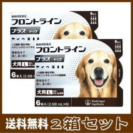 [動物用医薬品 犬用] フロントラインプラス ドッグ L [20〜40kg未満] 6本入 (2.68mL×6)2箱セット★