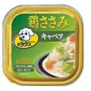 ◇日本ペットフード ビタワングー 鶏ささみ野菜キャベツ 100gトレイ