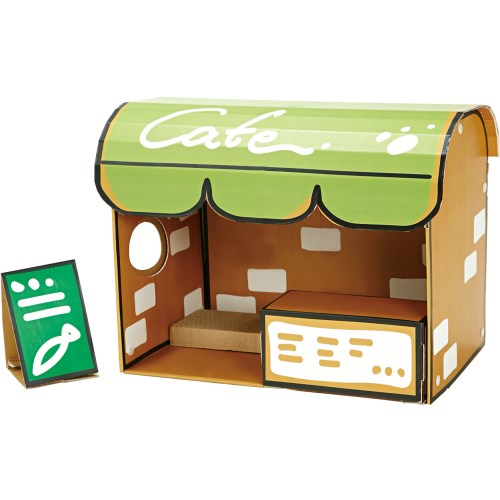 ◇ペティオ ねこあつめ カフェデラックス 紙製ハウス