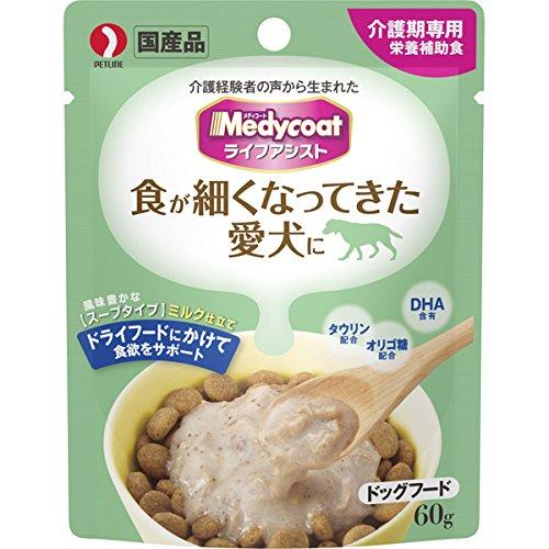 ◇ペットライン メディコート ライフアシスト スープタイプ ミルク仕立て 60g