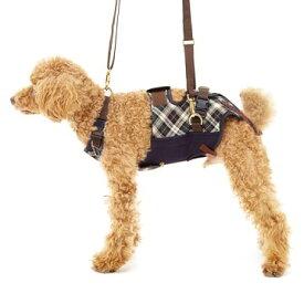 ◇トンボ 歩行補助ハーネスLaLaWalk(ララウォーク)小型犬・ダックス用 スクール(緑チェック) M