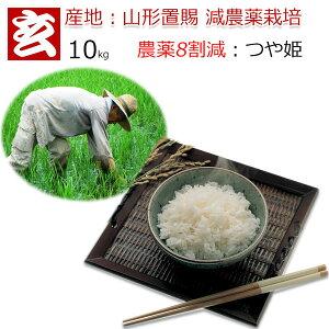 玄米 10kg 送料無料 農薬8割減 減農薬 1等米 つや姫 特別栽培認証 産年:令和2年 産地:山形県置賜産 生産者:小林 亮氏