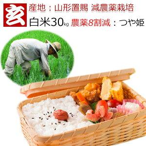 白米 30kg 送料無料 農薬8割減 減農薬 1等米 つや姫 特別栽培認証 産年:令和2年 産地:山形県置賜産 生産者:小林 亮氏