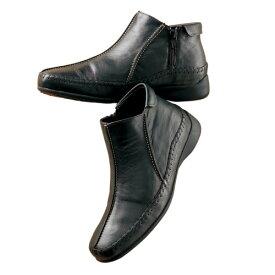 送料無料「3Eサイドファスナー山羊革アンクルブーツ(全2色) 靴 フラットシューズ レディース 婦人 ミセス シニア ぺたんこ ショートブーツ 黒 茶色 ブラック ブラウン フラットブーツ ヒール無し 歩きやすい おしゃれ ショート丈 カジュアル シンプル」 nss p19482