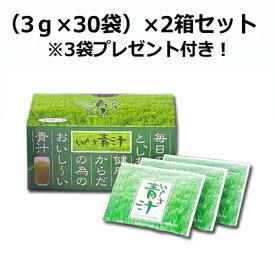 【まとめ買い価格】いぐさ青汁(3g×30袋)×2箱セット ※3袋プレゼント付き 【エスエフシー】