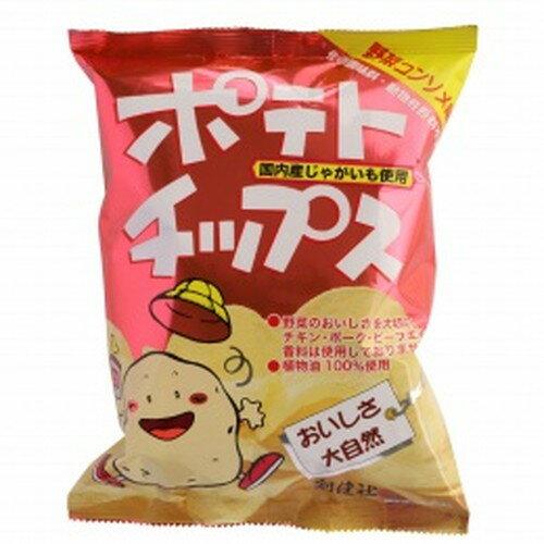 【創健社】ポテトチップス 野菜コンソメ味 60g ※20個以上で別途送料必要