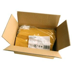 業務用 ジロロモーニ デュラム小麦 有機スパゲッティ (5kg) ※「キャンセル不可、3箱以上で重量加算あり」【創健社】※荷物総重量20kg以上で別途料金必要