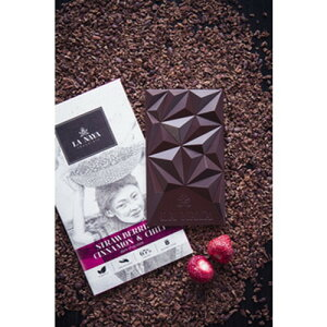 LA NAYA いちごとシナモン・チリペッパーのダークチョコレート 80g 【Baci】【JAS認定】※夏期(5-10月)クール便発送(クール代金1450円+配送料) ※キャンセル・同梱不可