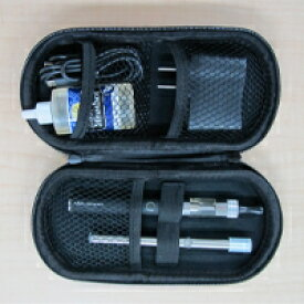 健康応援団 電子たばこ「社長のたばこ」スターター6点セット(アトマイザー、バッテリー、充電器、アロマリキッド30mL)+スマートタバコ1本+専用ハードケース(カラーはランダム)