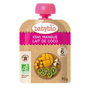 【お買上特典】baby bio 有機ベビースムージー キウイ・マンゴー・ココナッツ 90g【ミトク】