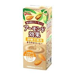 グリコアーモンド効果砂糖不使用まろやかコーヒー200ml24本✖2ケース