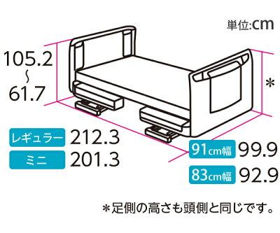 楽匠Z・3モーション(3モーター機能)・セーフティーラウンドボード(木目調)・サイズ