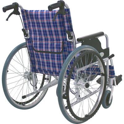 ◎【車椅子車いす】【ノーパンクタイヤ】【送料無料】【軽量】【折り畳み】アルミ製車いす/自走式車椅子CUYFWC-980【アルミ製車椅子】【smtb-s】後ろから見た画像