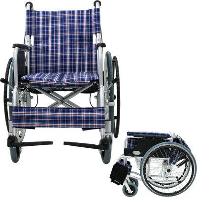 ◎【車椅子車いす】【ノーパンクタイヤ】【送料無料】【軽量】【折り畳み】アルミ製車いす/自走式車椅子CUYFWC-980【アルミ製車椅子】