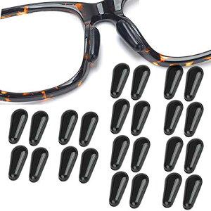 メガネ 鼻 パッド シール 柔らかい シリコン 眼鏡 鼻盛りまめパッド 12組セット メガネ ずれ落ち防止ロック 鼻あてタイプ 2.8mm
