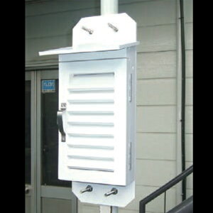 【マイゾックス】特小百葉箱 14型 [220811]気象観測 気象装置 温度計測 気温観測機 測定器具雨量計 露場 保護 小学校 校庭 理科 気象 温度 湿度