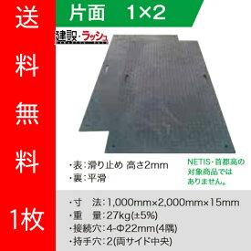 【(株)ウッドプラスチックテクノロジー】軽量樹脂製敷板 Wボード 3尺×6尺 10枚セット [910×1820ミリ] 片面凸 色:黒 (固定穴8か所)