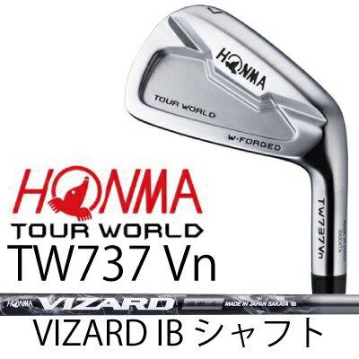 【がんばるべ岩手】HONMA GOLF ホンマゴルフ HONMA TOURWORLD TW737 Vn 6本組(#5〜#10)アイアンVIZARD IB シャフトホンマゴルフ ツアーワールド