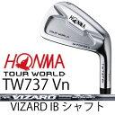 【がんばるべ岩手】HONMA GOLF ホンマゴルフ HONMA TOURWORLD TW737 Vn 6本組(#5〜#10)アイアンVIZARD IB シャフ...