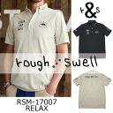 【がんばるべ岩手】ラフ&スウェル rough & swellRSM-17007 RELAXラフアンドスウェルポロシャツ