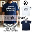 【がんばるべ岩手】ラフ&スウェル rough & swellRSM-17017 TEAM SKIPPERラフアンドスウェルポロシャツ