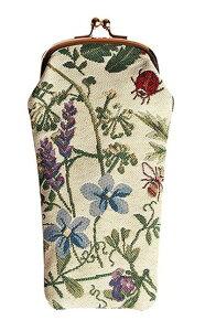 シグナーレ 眼鏡ケース サマーガーデンフロム イングランド 英国 デザイン メガネケース おしゃれ かわいい スリム コンパクト 軽い イギリススタイル 英国雑貨 ジャガード織 ファッション