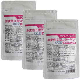 非変性2型コラーゲン UC-II コラパワー 90日分 お得セット II型コラーゲン サプリ MSM コンドロイチン配合 二型コラーゲン 送料無料