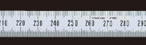 シンワ測定 細巾直尺 シルバー1m 13277