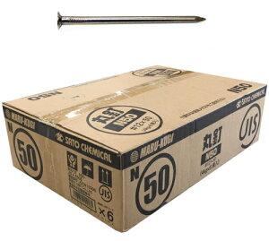 SC 丸釘(JIS品) N50 #12×50mm【1ケース/4kg小箱×6箱入】