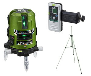 KDS リアルグリーンレーザー墨出し器 ATL-25RGRSA【本体+受光器+三脚】