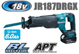 マキタ電動工具 18V充電式レシプロソー【APT】 JR187DRGX【BL1860B×2個・充電器・ケース付】