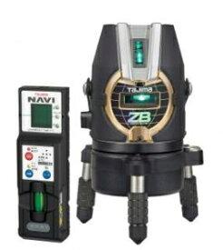 タジマツール ブルーグリーンレーザー墨出し器 NAVI ZERO BLUE-KJY(乾電池タイプ) ZEROBN-KJY(本体+NAVI受光器)【三脚は別売】