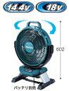 マキタ 扇風機 14.4/18V対応充電式産業扇 CF301DZ(本体のみ)【バッテリー・充電器は別売】 羽根径330mm