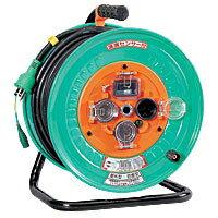 日動工業防雨型電工ドラム(アース付/30m・過負荷・漏電保護兼用ブレーカー付/温度センサー付)NPW-EK33-S