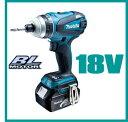 マキタ インパクトドライバー 18V充電式4モードインパクトドライバー TP141DRFX ブルー【3.0Ah電池×2個フルセット】