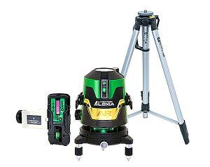 シンワ測定 レーザー墨出し器 レーザーロボ LEXIA AR グリーン 31AR 70873(本体・受光器・三脚セット)