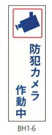 キョウリツサインテック 防犯シリ-ズ(ステッカー) BH1-6 防犯カメラ作動中