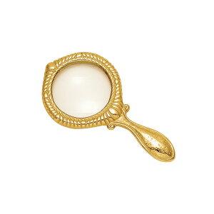 ゴーリキアイランド 真鍮 ルーペ 金色 ハンドル型【真鍮 アンティーク ブラス 雑貨】【※メーカー取寄の諸経費が送料に含まれております】