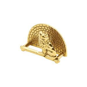 ゴーリキアイランド 真鍮 カード立て 金色 ネコカート型【真鍮 アンティーク ブラス 雑貨】【※メーカー取寄の諸経費が送料に含まれております】